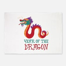 Year Of The Dragon 5'x7'Area Rug