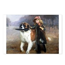 A Little Girl and Her Dog Postcards (Package of 8)