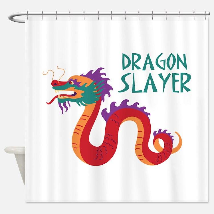 DRAGON SLAYER Shower Curtain