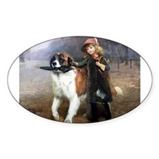 A Little Girl and Her Dog Decal