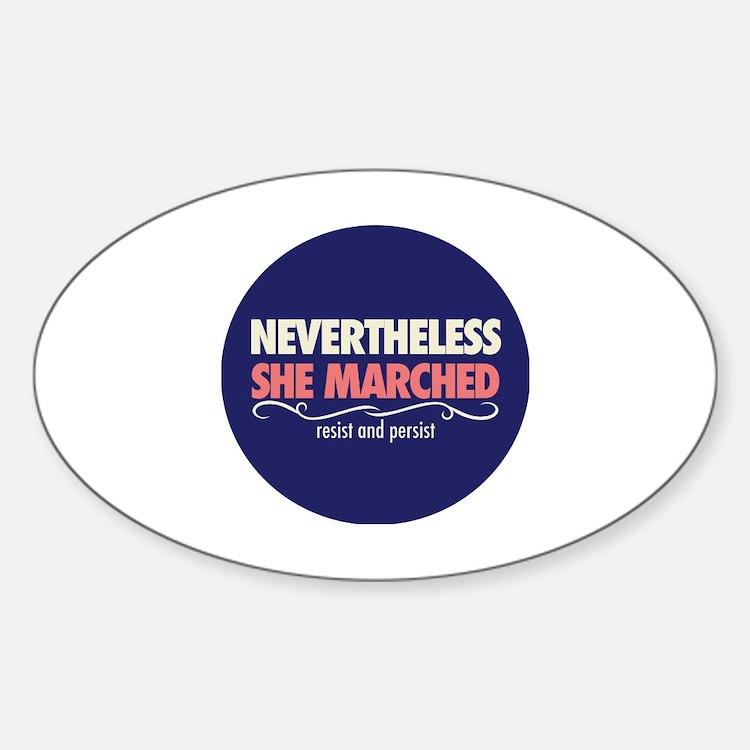 Cute International women%27s day Sticker (Oval)