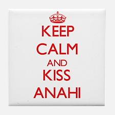 Keep Calm and Kiss Anahi Tile Coaster