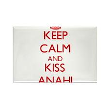 Keep Calm and Kiss Anahi Magnets