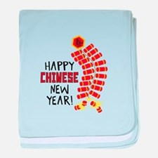 Happy CHINESE New Year! baby blanket