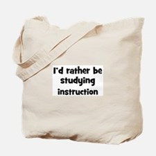Study instruction Tote Bag
