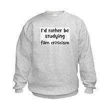Study film criticism Sweatshirt