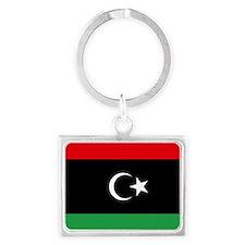 Flag of Libya Landscape Keychain