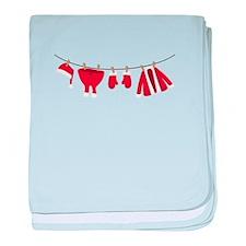 Santas Clothesline baby blanket