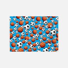 Basketball & Soccer 5'x7'Area Rug