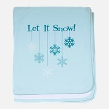 Let It Snow! baby blanket