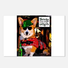 Irish Pub Corgi Postcards (Package of 8)