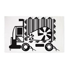 Push this Truck 3'x5' Area Rug