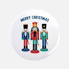 "MERRY CHRISTMAS 3.5"" Button"