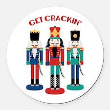 GET CRACKIN Round Car Magnet