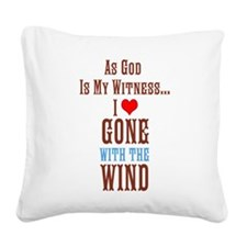 Gone With The Wind Square Canvas Pillow