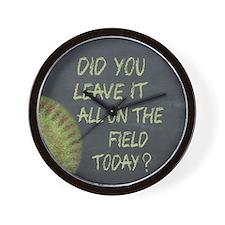 The Field Today Fastpitch Softball Moti Wall Clock