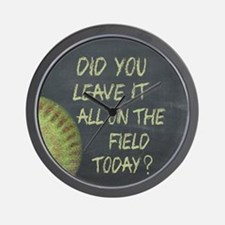 The Field Today Fastpitch Softball Moti Wall Clock