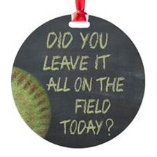 The Field Today Fastpitch Softball Ornament