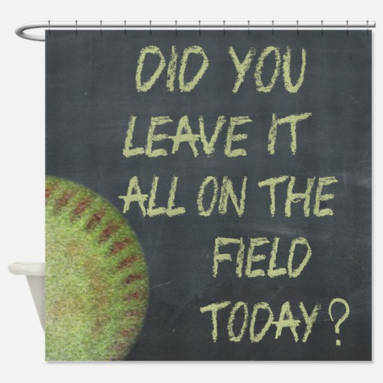 The Field Today Fastpitch Softball Shower Curtain