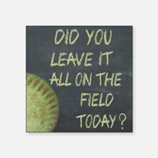 "The Field Today Fastpitch S Square Sticker 3"" x 3"""