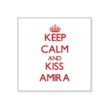 Keep Calm and Kiss Amira Sticker