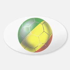 Congo Republic Football Sticker (Oval)