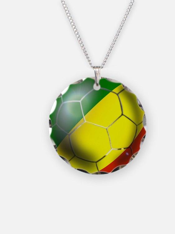 Congo Republic Football Necklace