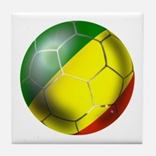 Congo Republic Football Tile Coaster