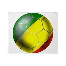 Congo Republic Football Throw Blanket