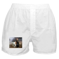 A Little Girl and Her Dog Boxer Shorts