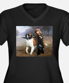 A Little Girl and Her Dog Plus Size T-Shirt