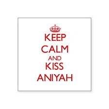 Keep Calm and Kiss Aniyah Sticker