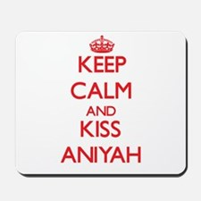 Keep Calm and Kiss Aniyah Mousepad