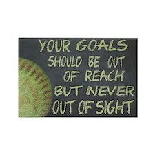 Your Goals Fastpitch Softball Mot Rectangle Magnet