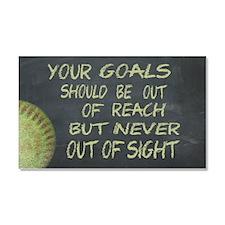 Your Goals Fastpitch Softball M Car Magnet 20 x 12