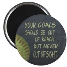 Your Goals Fastpitch Softball Motivational Magnet