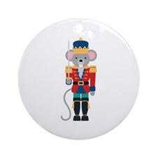 Nutcracker Ballet Story Mouse King Ornament (Round