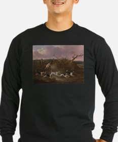 Beagles in Full Cry Long Sleeve T-Shirt