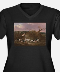 Beagles in Full Cry Plus Size T-Shirt