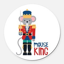 mouse King Round Car Magnet