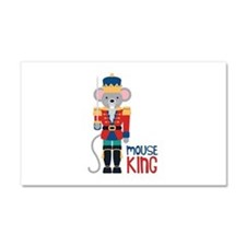 mouse King Car Magnet 20 x 12