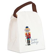 Seasons Greetings Canvas Lunch Bag