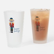 Seasons Greetings Drinking Glass