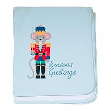 Seasons Greetings baby blanket