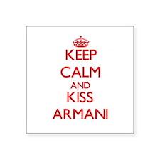 Keep Calm and Kiss Armani Sticker