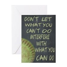 What You Can Do Fastpitch Softball M Greeting Card