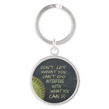 What You Can Do Fastpitch Softball Round Keychain
