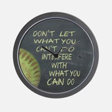 What You Can Do Fastpitch Softball Moti Wall Clock