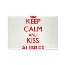 Keep Calm and Kiss Aubree Magnets