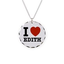 I love Edith Necklace